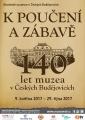 140 let muzea v ČESKÝCH BUDĚJOVICÍCH